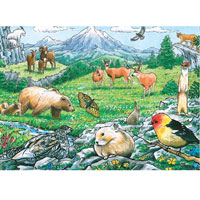 Cobble Hill Habitat Tray Puzzle - Rocky Mountain Wildlife