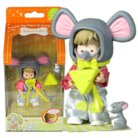 Ella the Mouse Poseable Figure Set
