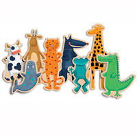 Djeco Wooden Magnetics - Crazy Animals