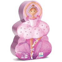 Djeco Silhouette Puzzle - Ballerina with Flower