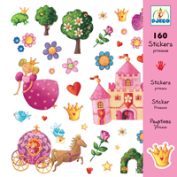 Djeco Princess Marguerite - 160 Stickers