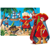 Djeco Silhouette Puzzle - The Pirate and His Treasure