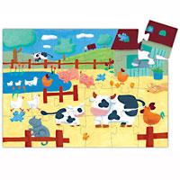 The Cow on the Farm - 24 piece puzzle