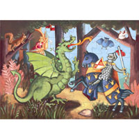 The Knight at the Dragon's - 36 piece puzzle