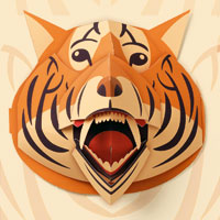 Tiger Pop-up Art