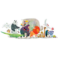 Djeco Animal Parade Puzzle - 36 pc