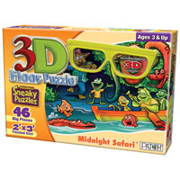 3D Floor Puzzle - Midnight Safari