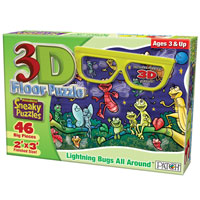 3D Floor Puzzle - Lightning Bugs