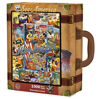 See America Travel America Suitcase Puzzle - 1000 pc