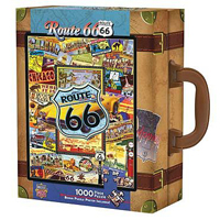 Route 66 Travel America Suitcase Puzzle - 1000 pc