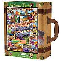 National Parks Travel America Suitcase Puzzle - 1000 pc