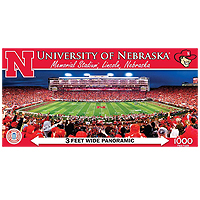 College Panoramic Stadium Puzzle - Nebraska