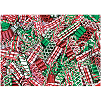 Sweet Christmas Holiday Glitter Puzzle - 500 pc