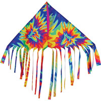 Fun Flyer Fringe Delta Kite - Tie Dye