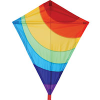 25 inch Diamond Kite - Radiant Rainbow