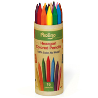 Hexagon Colored Pencils - 16 Pack