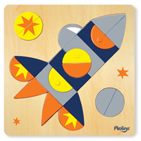 P'kolino Multi-Solution Shape Puzzle - Spaceship