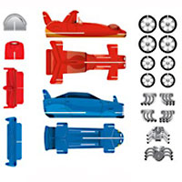 Speedway Race Cars Sticker Kit