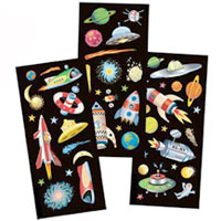 Space Mobile Sticker Kit