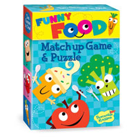 Funny Foods Match Up Game & Puzzle