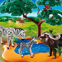 Playmobil Africa - Buffalo with Zebras