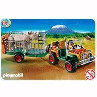 Playmobil Africa - Ranger's Vehicle with Rhino