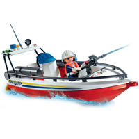 Playmobil Fire Rescue - Fire Boat with Trailer