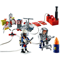 Playmobil Fire Rescue - Firefighters with Water Pump