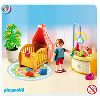 Playmobil Doll House - Baby Room with Mobile