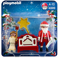Playmobil Christmas - Little Angel and Santa Claus with Organ