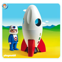 Playmobil 1,2,3 Moon Rocket