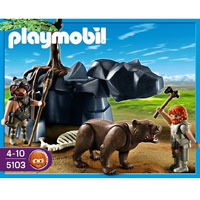 Playmobil Stone Age - Bear with Cavemen