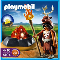 Playmobil Stone Age - Fire Guardian with LED Fire
