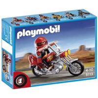 Playmobil Collectible Motorcycles - Chopper Motorcycle with Rider