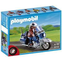 Playmobil Collectible Motorcycles - Touring Motorcycle with Rider