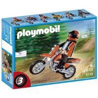 Playmobil Collectible Motorcycles - Enduro Motorcycle with Rider