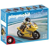 Playmobil Collectible Motorcycles - Super Racer with Rider