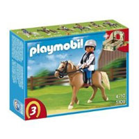 Playmobil Collectible Horses - Haflinger Horse with Rider and Stable