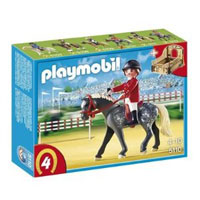 Playmobil Collectible Horses - Trakehner Horse with Equestrienne and Stable