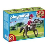 Playmobil Collectible Horses - Arabian Horse with Jockey and Stable