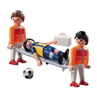 Playmobil Soccer - Field Medics with Player