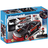 Playmobil Car Repair Shop and Sports Car with Sound