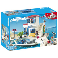 Playmobil Harbor - Harbor Police Station with Speedboat