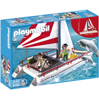 Playmobil Harbor - Catamaran with Dolphins