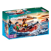 Playmobil Pirates - Pirates Rowboat with Shark