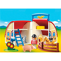 Playmobil 1,2,3 Take Along Barn