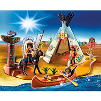 Playmobil Western - SuperSet Native American Camp