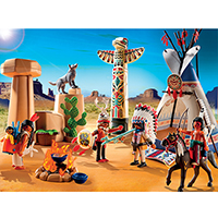 Playmobil Western - Native American Camp with Totem Pole