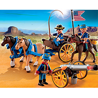 Playmobil Western - Horse-Drawn Carriage with Cavalry Rider