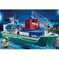 Playmobil City Action - Cargo Ship with Loading Crane